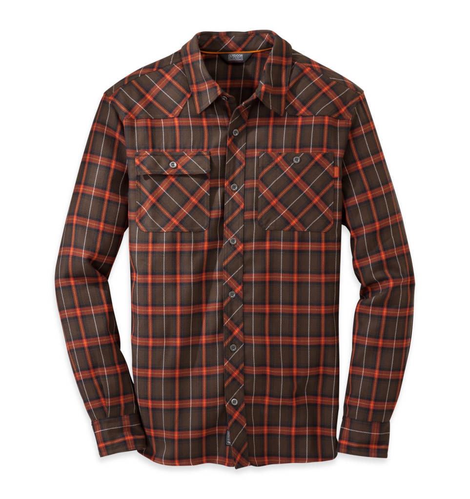 Outdoor Research Men's Feedback Flannel Shirt Earth-30