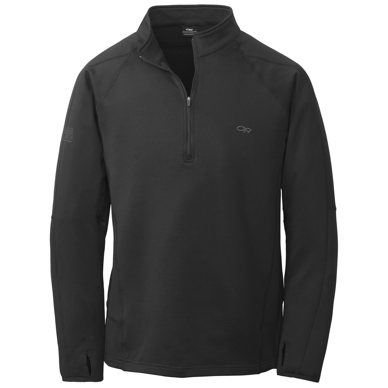 Outdoor Research Men's Radiant LT Zip Top black-30