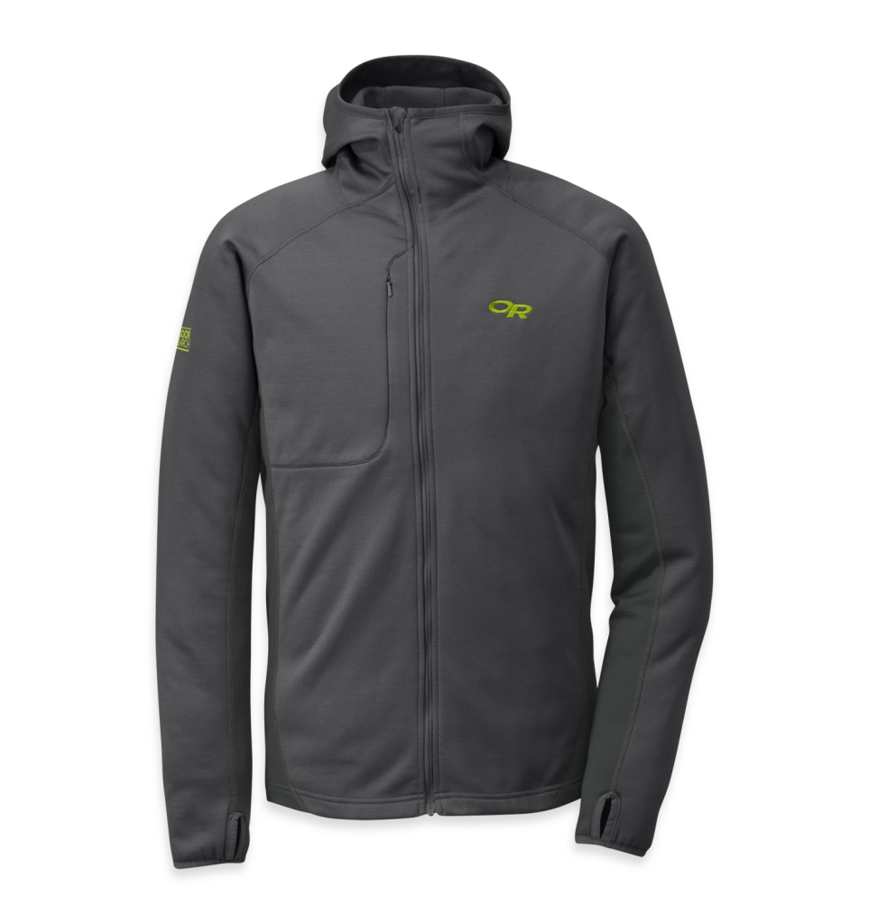 Outdoor Research Men's Radiant Hybrid Hoody Charcoal/Lemongrass-30