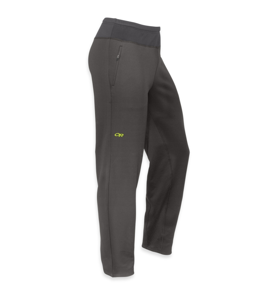 Outdoor Research Men's Radiant Hybrid Tights Charcoal/Lemongrass-30