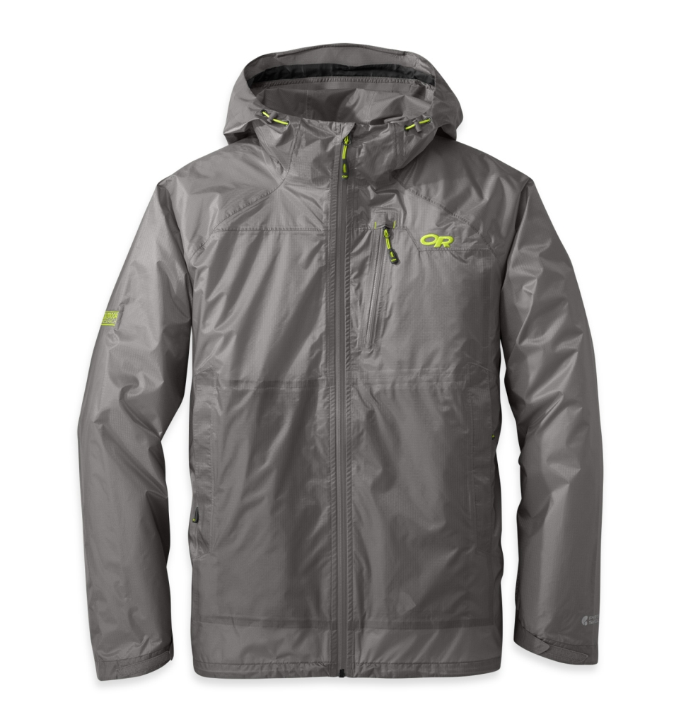 Outdoor Research Men's Helium HD Jacket pewter/lemongrass-30