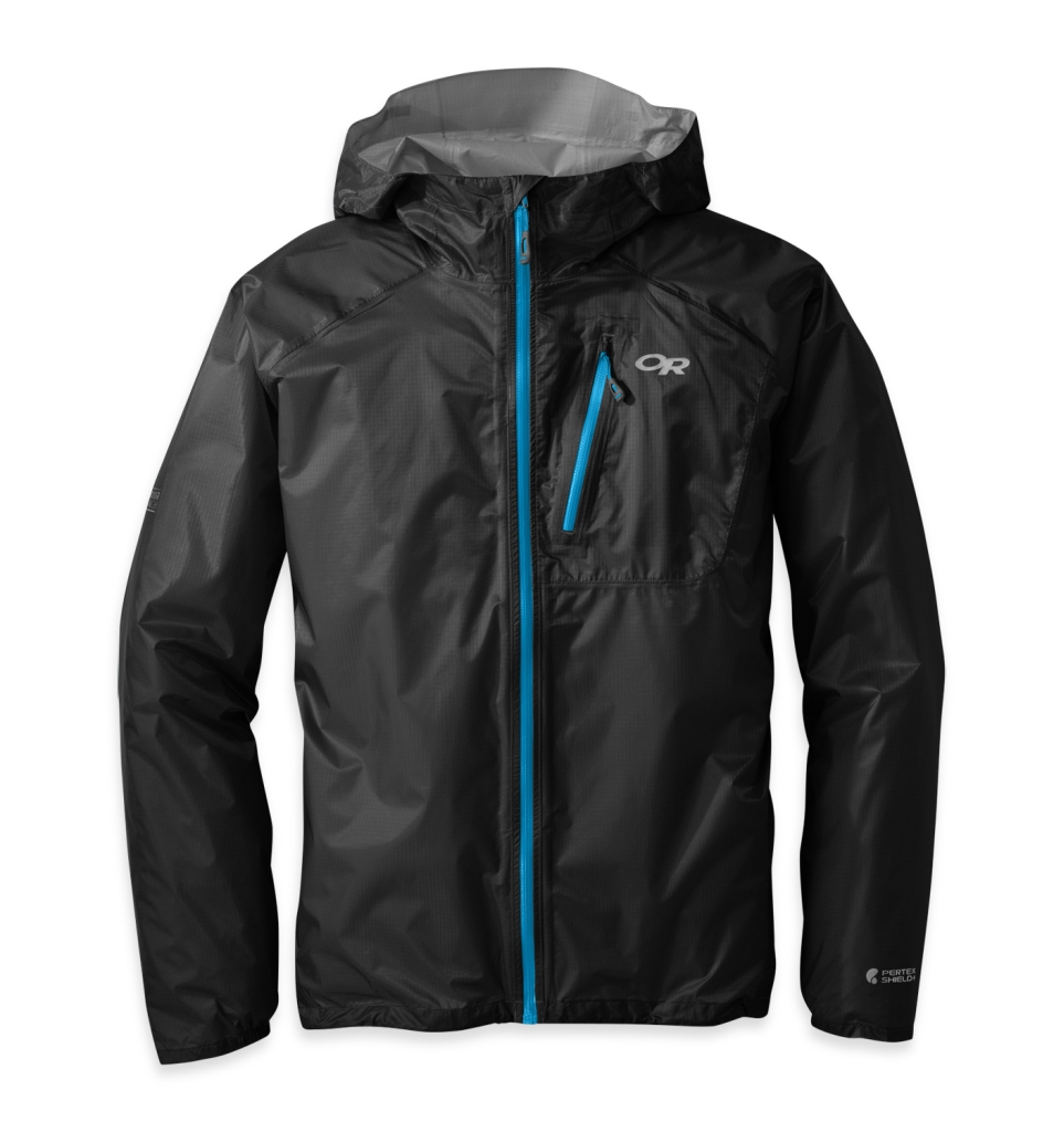 Outdoor Research Men's Helium II Jacket Black/Hydro-30
