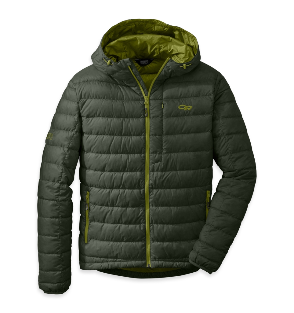 Outdoor Research Men's Transcendent Hoody Evergreen/Hops-30