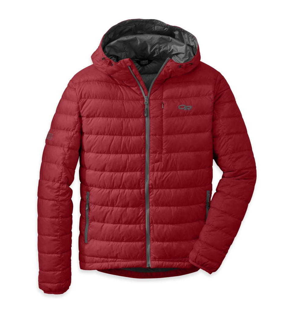 Outdoor Research Men's Transcendent Hoody Redwood/Charcol-30
