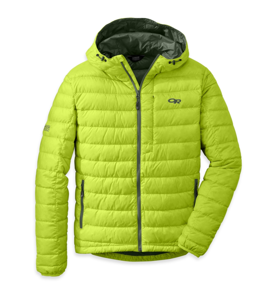 Outdoor Research Men's Transcendent Hoody Lemngrass/Evergreen-30