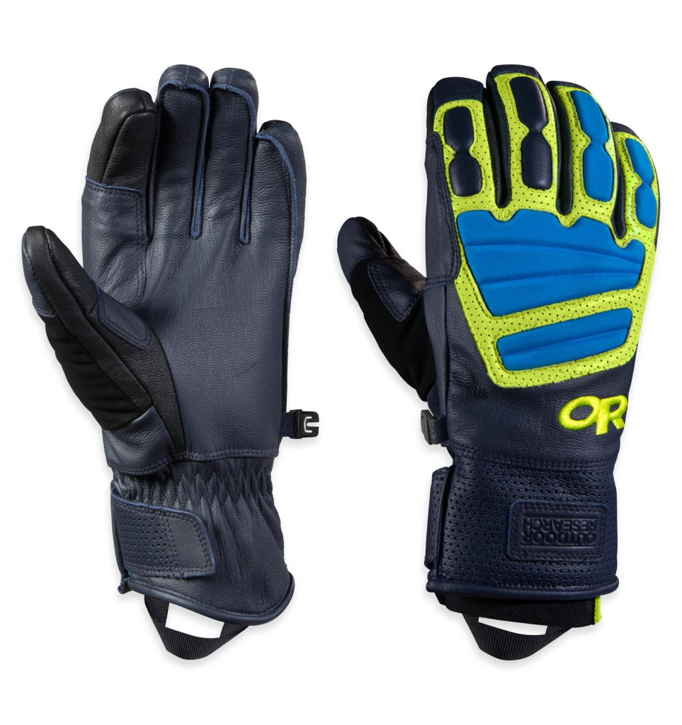Outdoor Research Men's Mute Sensor Gloves Night/Lemongrass/Hydro-30