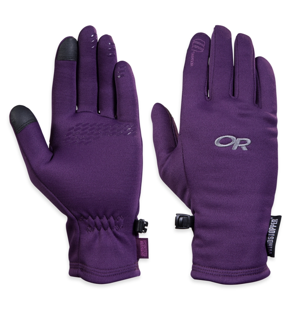 Outdoor Research Women's Backstop Sensor Gloves Elderberry-30
