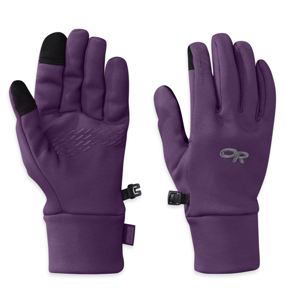 Outdoor Research Women's PL 100 Sensor Gloves Elderberry-30