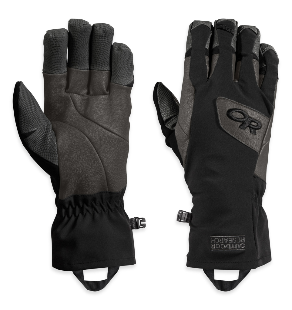 Outdoor Research Super Vert Gloves Black/Charcol-30
