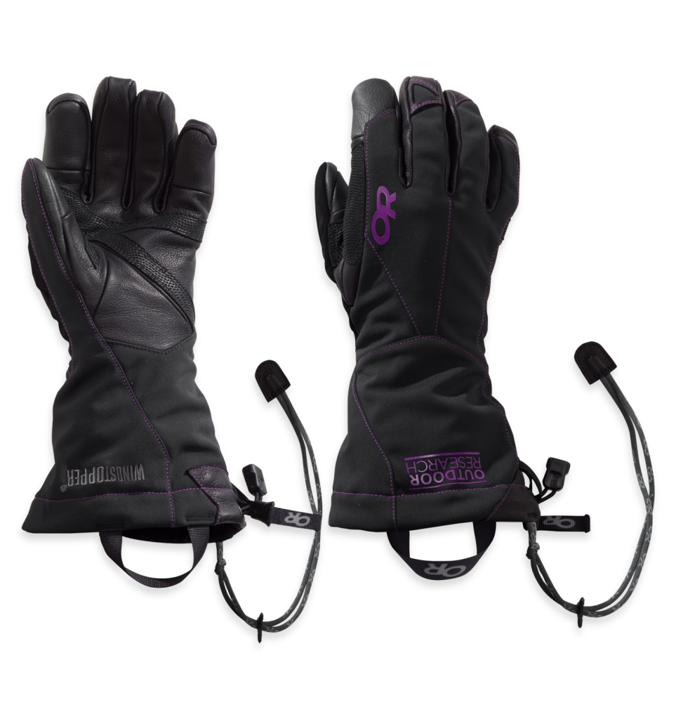 Outdoor Research Women's Luminary Sensor Gloves Black/Ultraviolet-30