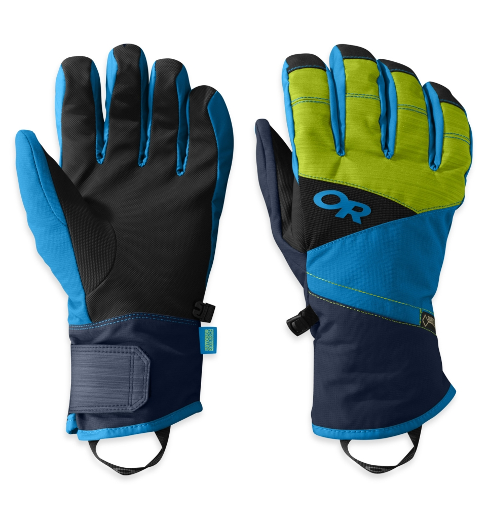 Outdoor Research Men's Centurion Gloves Night/Lemongrass/Hydro-30