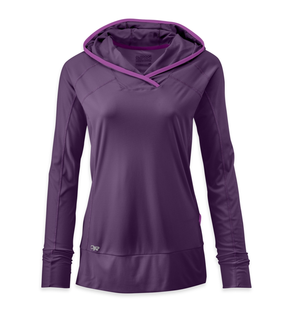 Outdoor Research Women's Echo Hoody elderberry/ultraviolet-30