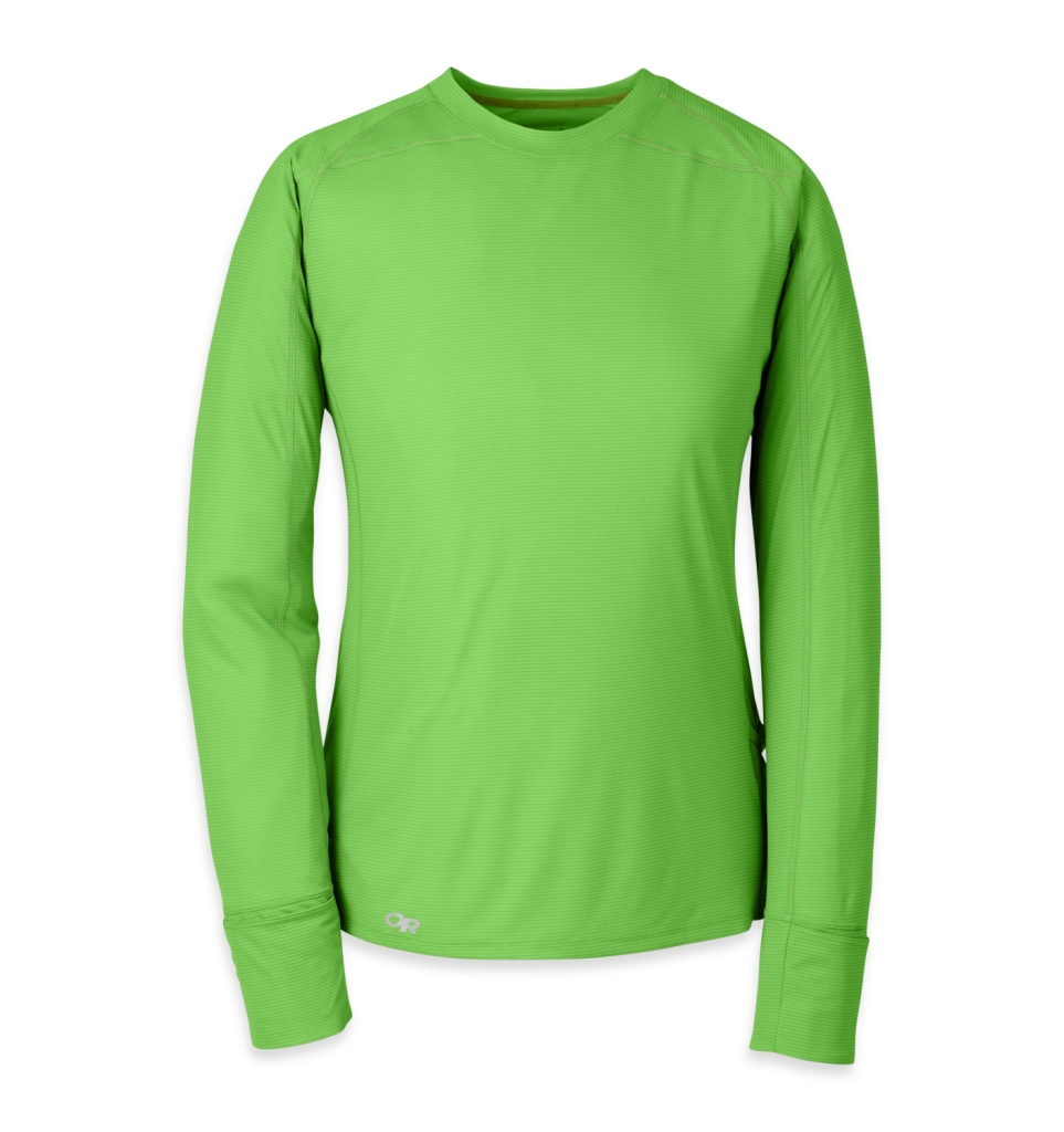 Outdoor Research Women's Echo L/S Tee apple/laurel-30