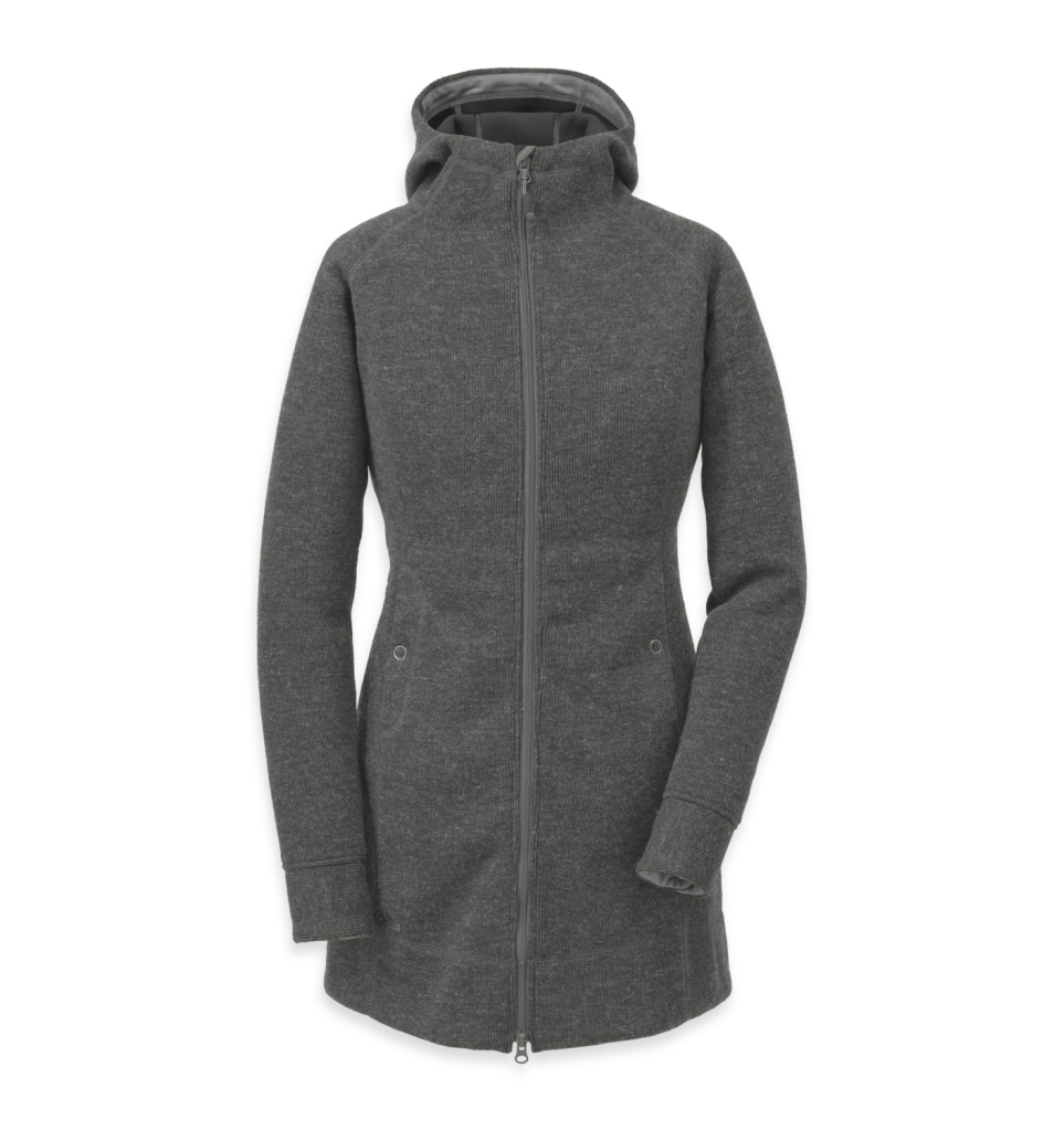 Outdoor Research Women's Salida Long Hoody Charcoal-30