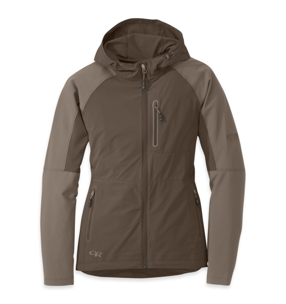 Outdoor Research Women's Ferrosi Hoody mushroom/walnut-30