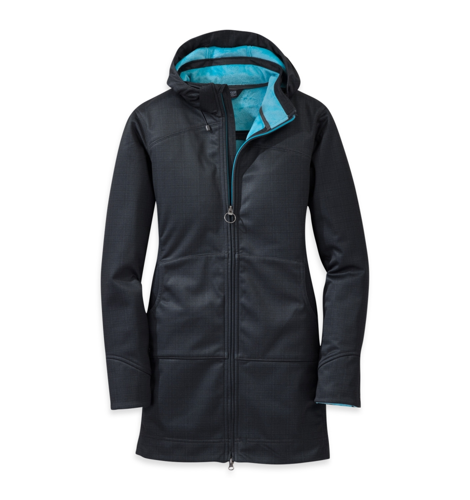 Outdoor Research Women's Serena Hoody Charcoal/Rio-30