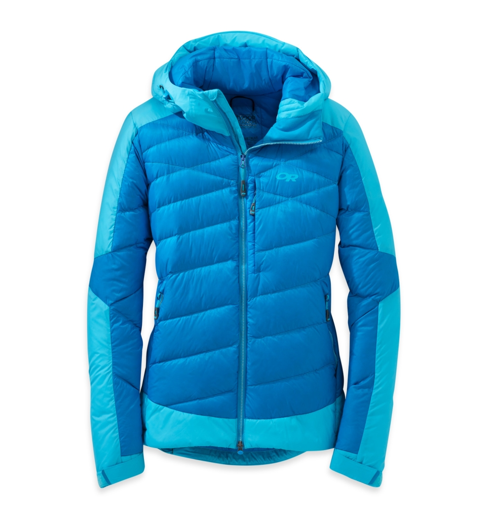 Outdoor Research Women's Diode Hooded Jacket Hydro/Rio-30