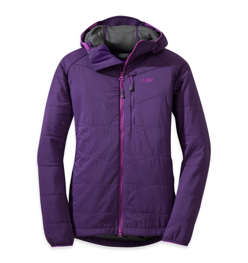 Outdoor Research Women's Uberlayer Hooded Jacket Elderberry-30
