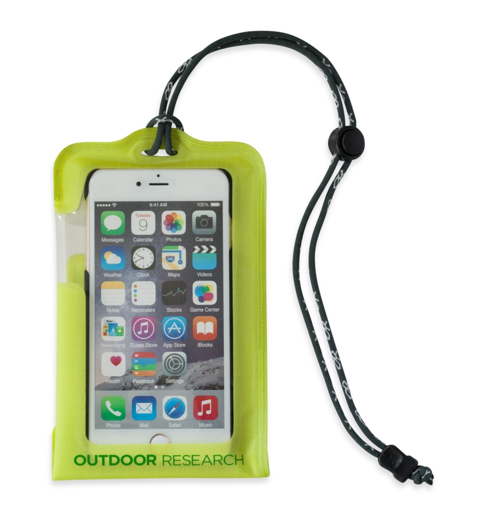 Outdoor Research SensDry Pocket Smartphone Large lemongrass-30
