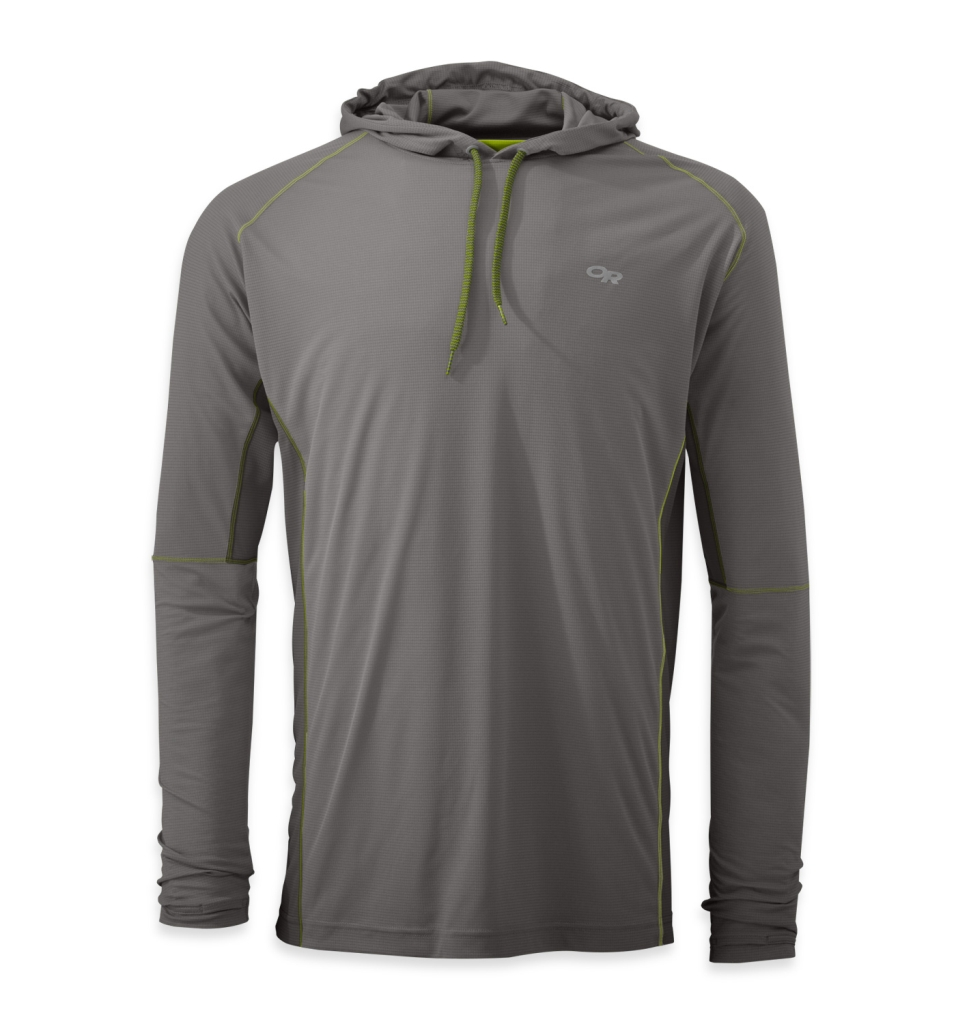 Outdoor Research Men's Echo Hoody pewter/lemongrass-30