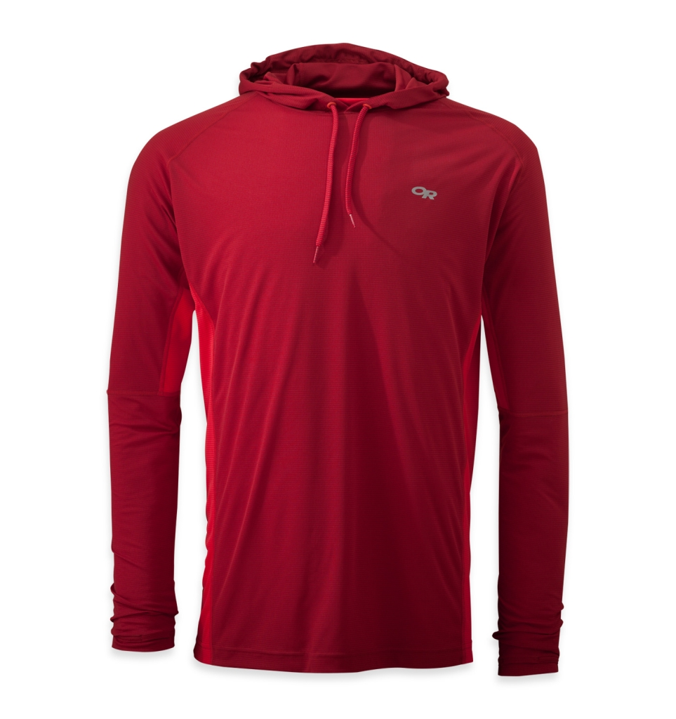 Outdoor Research Men's Echo Hoody redwood/hot sauce-30