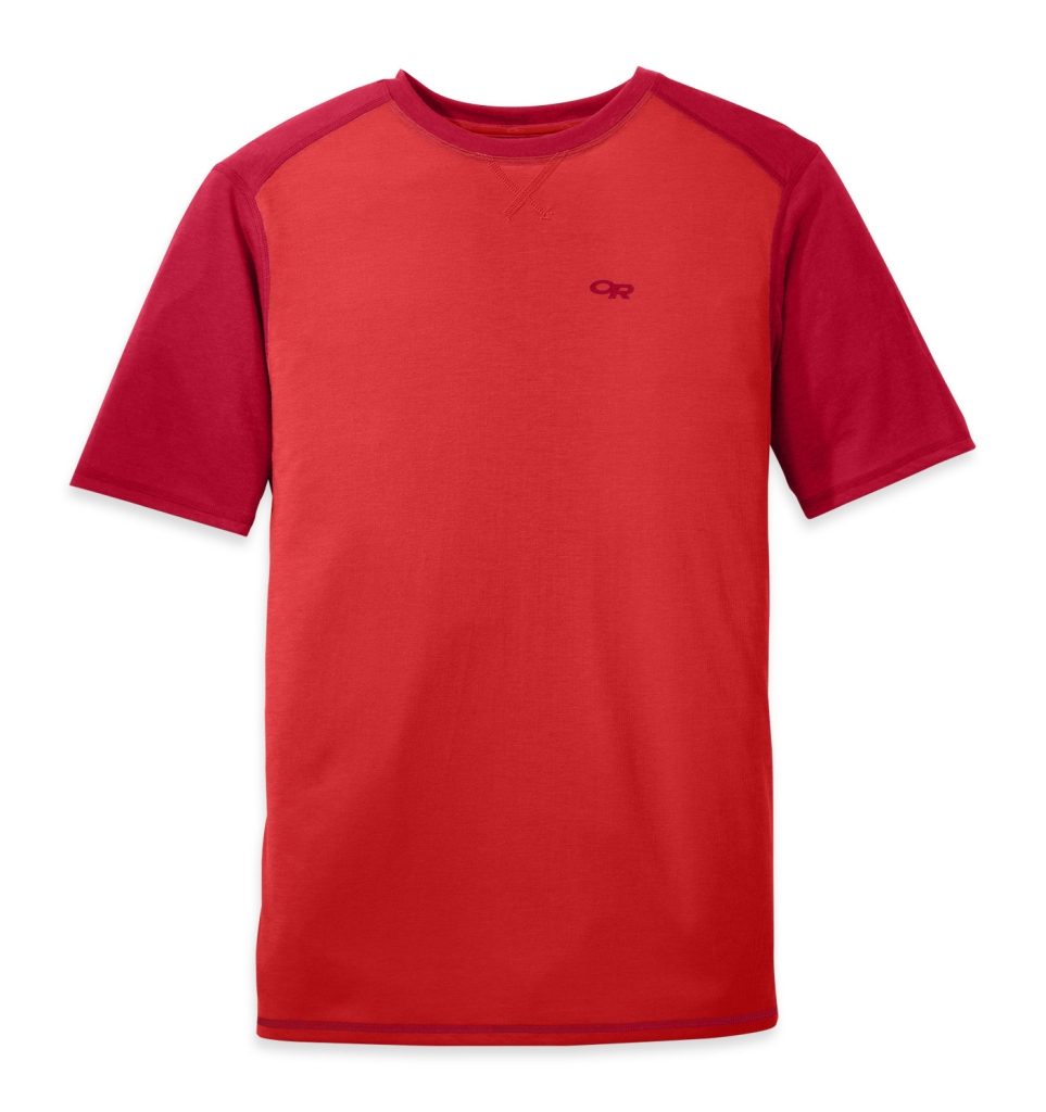 Outdoor Research Men's Sequence Duo Tee hot sauce/agate-30