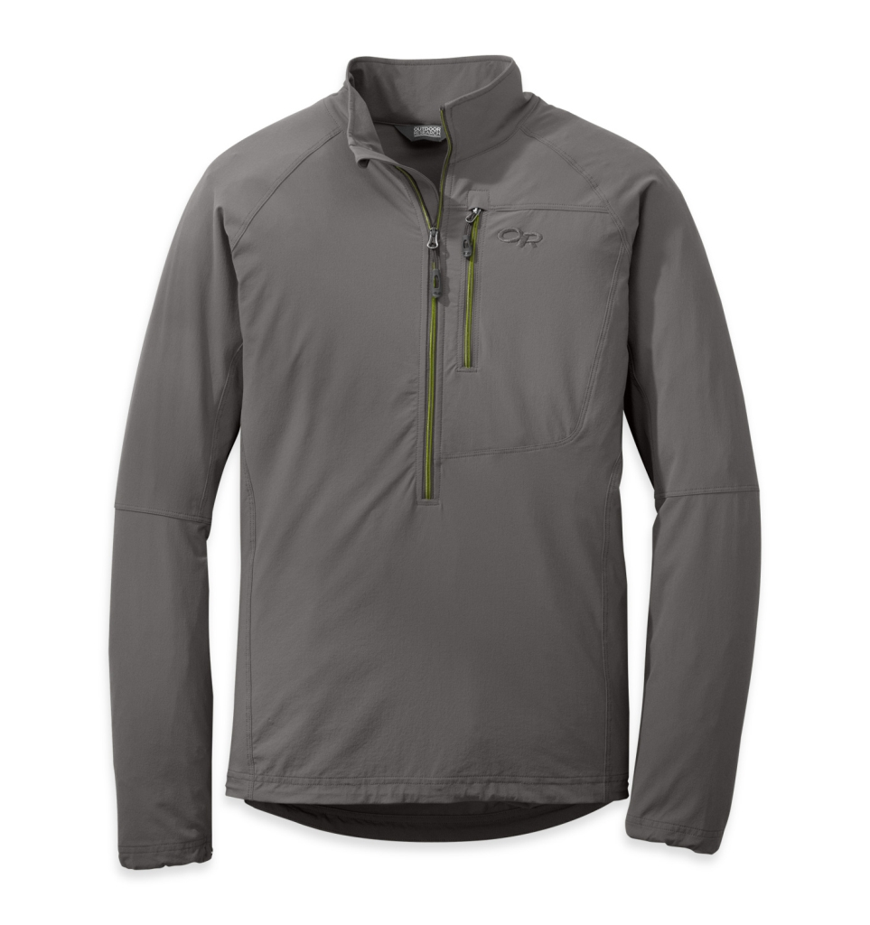 Outdoor Research Men's Ferrosi Windshirt pewter/lemongrass-30