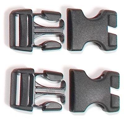 Ortlieb Stealth'-Schnallen Für Rack-Pack 25 Mm, Gehäuse (Geschlitzt) Und Stecker, 2 Sets divers-30