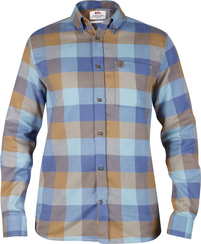 FjallRaven Övik Big Check Shirt LS Uncle Blue-30