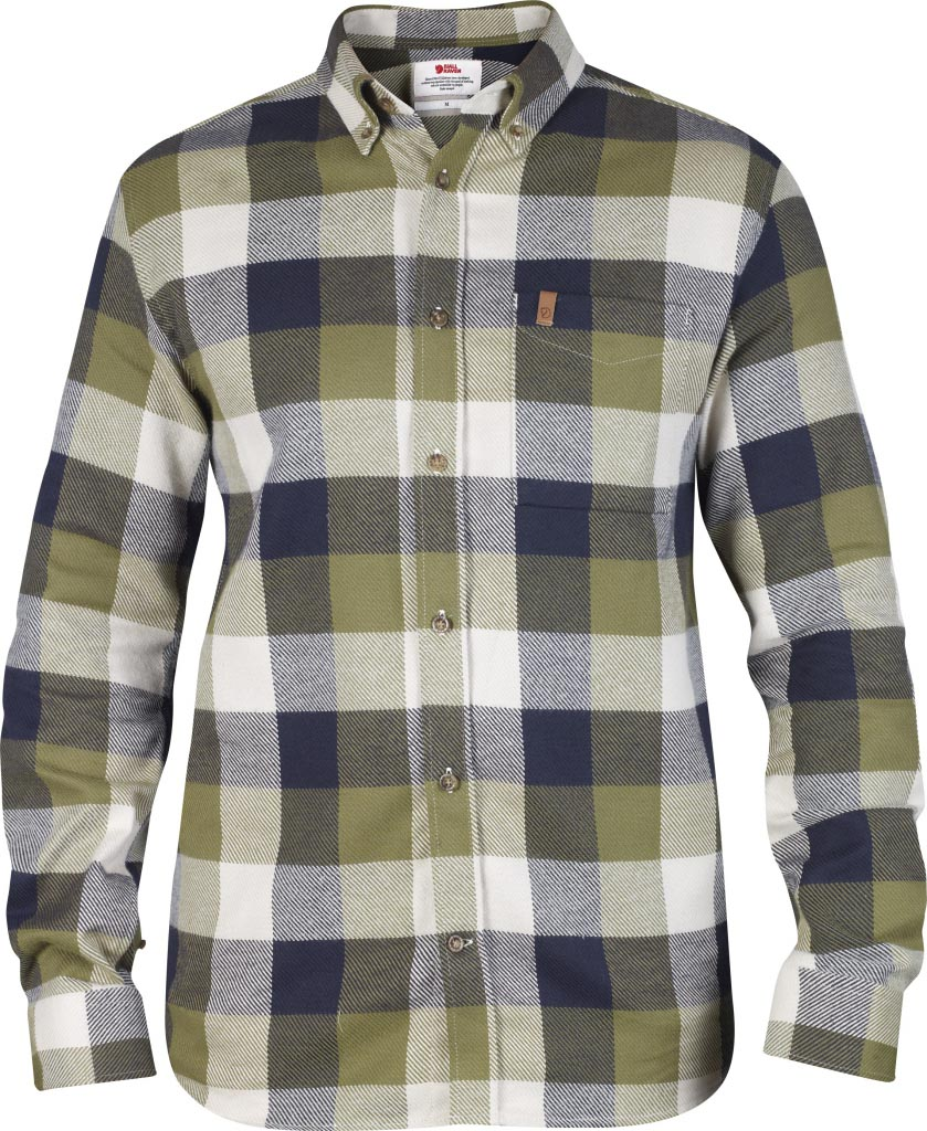 FjallRaven Övik Big Check Shirt LS Green-30