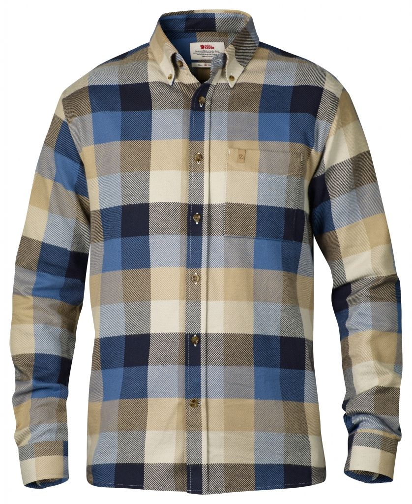 FjallRaven Övik Big Check Shirt LS Dark Navy-30