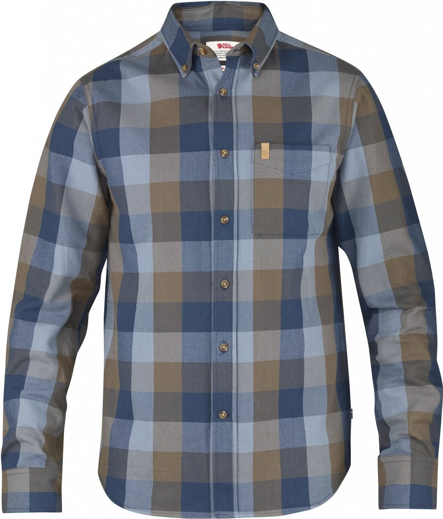 FjallRaven Ovik Big Check Shirt LS Blueberry-30