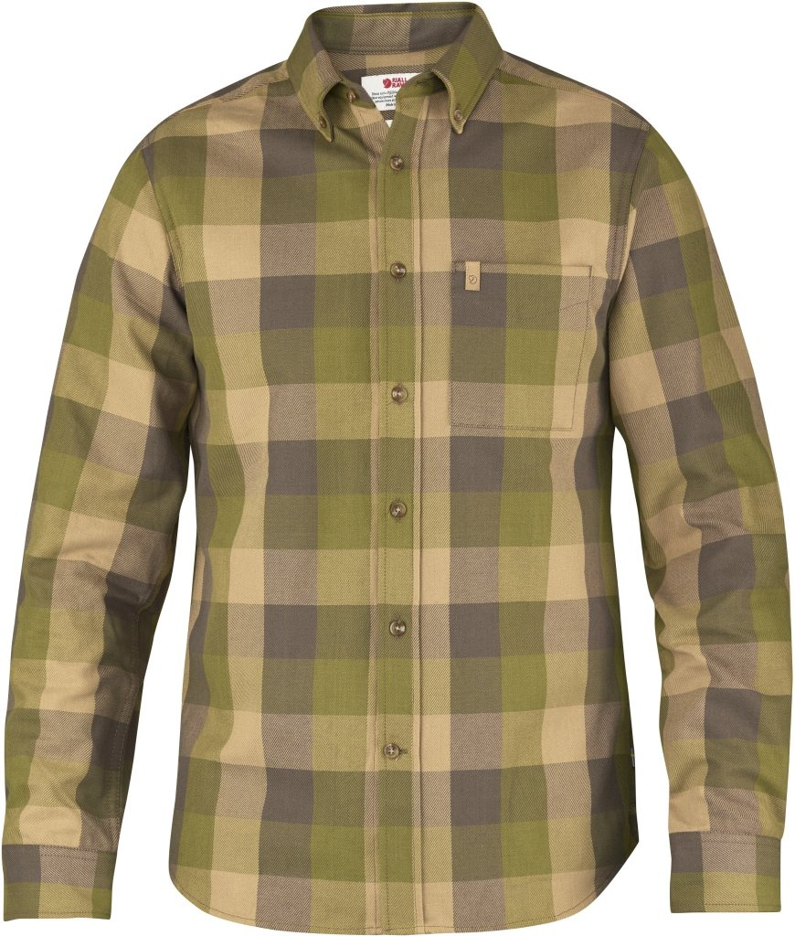 FjallRaven Ovik Big Check Shirt LS Avocado-30