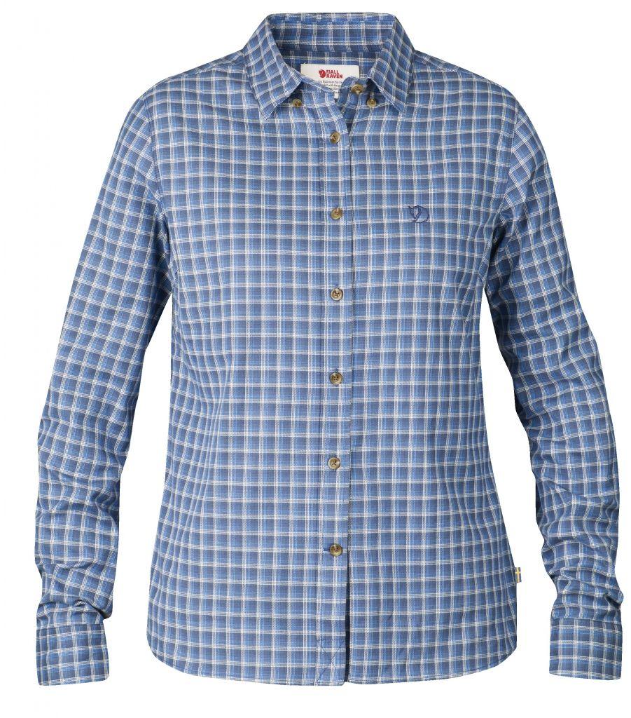 FjallRaven Övik Flannel Shirt LS W. UN Blue-30