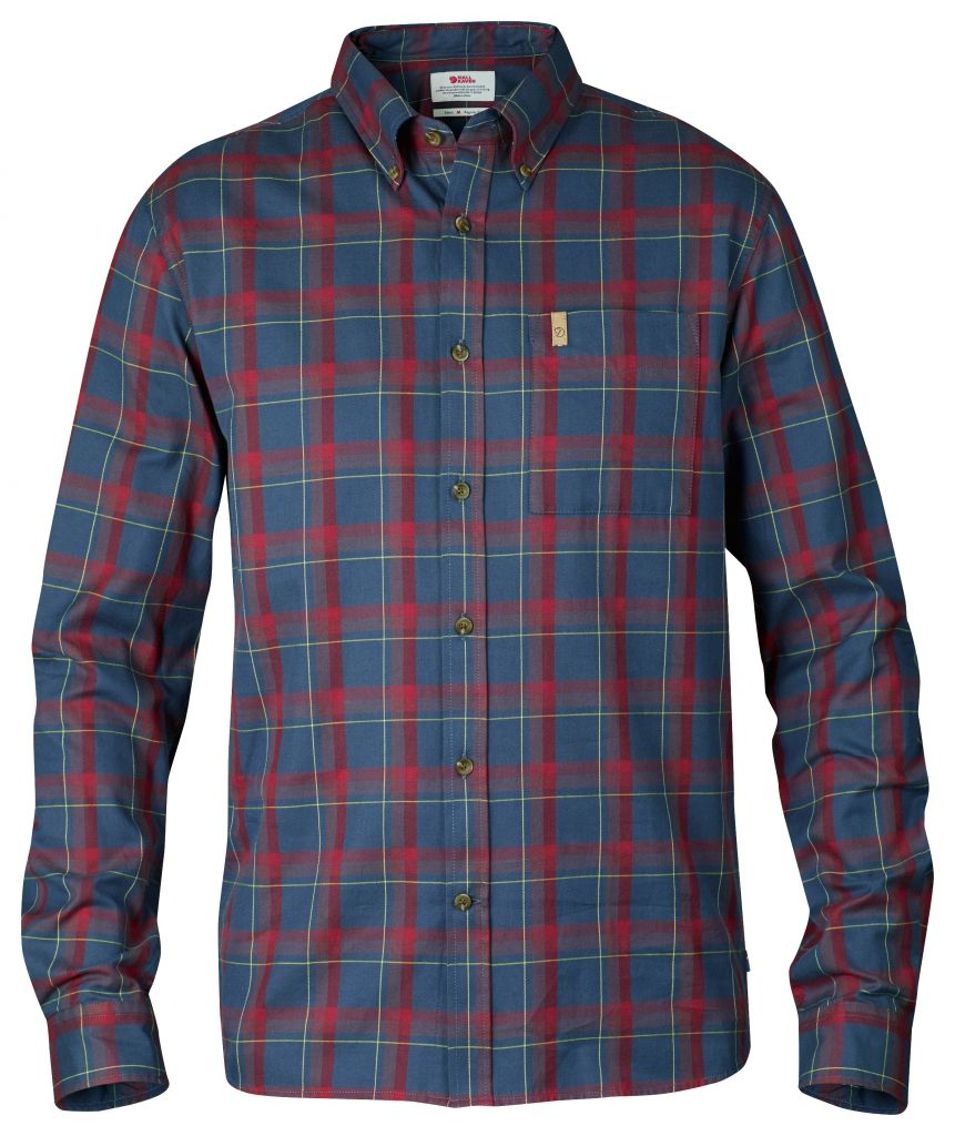 FjallRaven Övik Flannel Shirt LS Navy-30