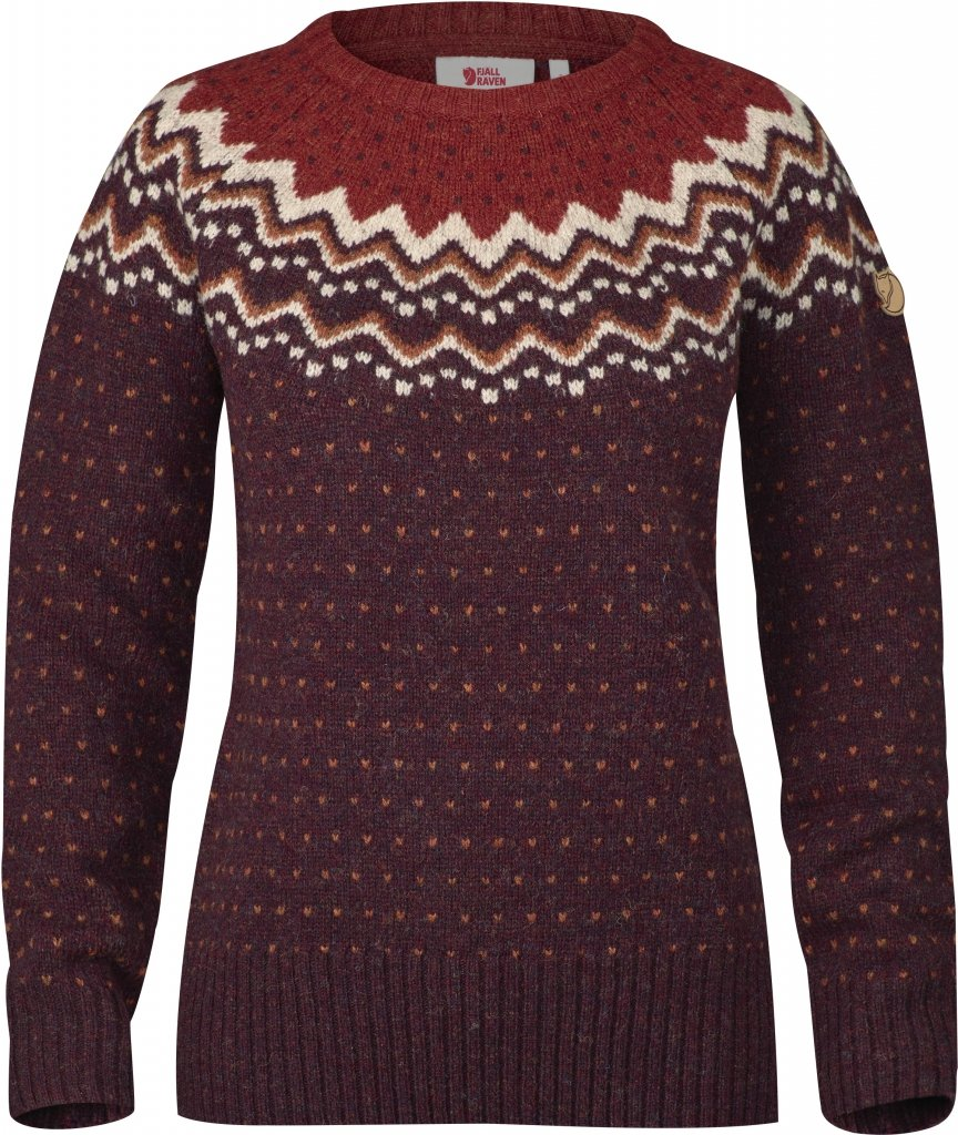FjallRaven Ovik Knit Sweater W. Dark Garnet-30