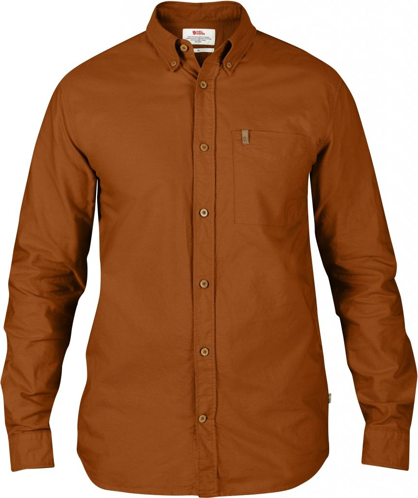 FjallRaven Övik Oxford Shirt LS Autumn Leaf-30