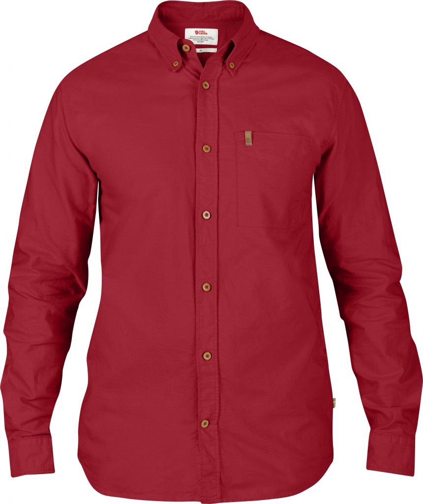 FjallRaven Övik Oxford Shirt LS Deep Red-30