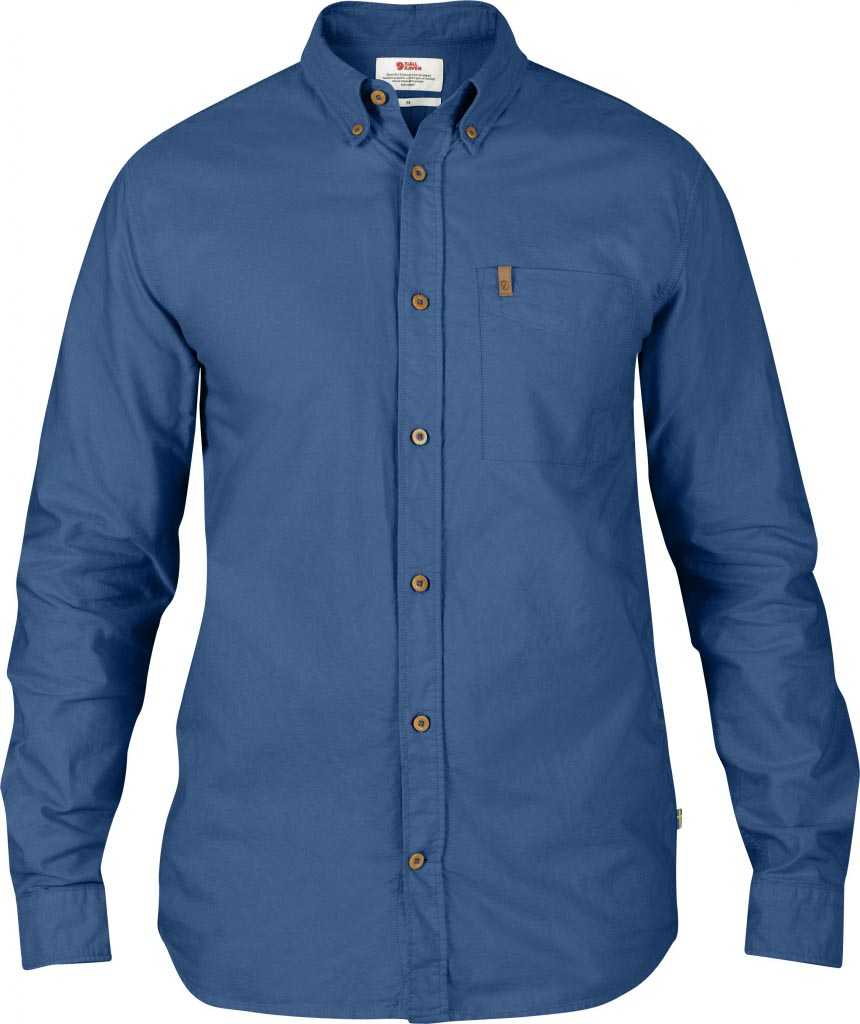 FjallRaven Övik Oxford Shirt LS Uncle Blue-30