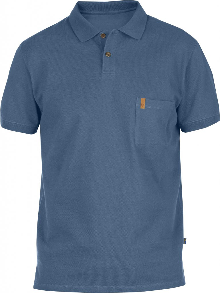 FjallRaven Övik Pique Shirt Uncle Blue-30
