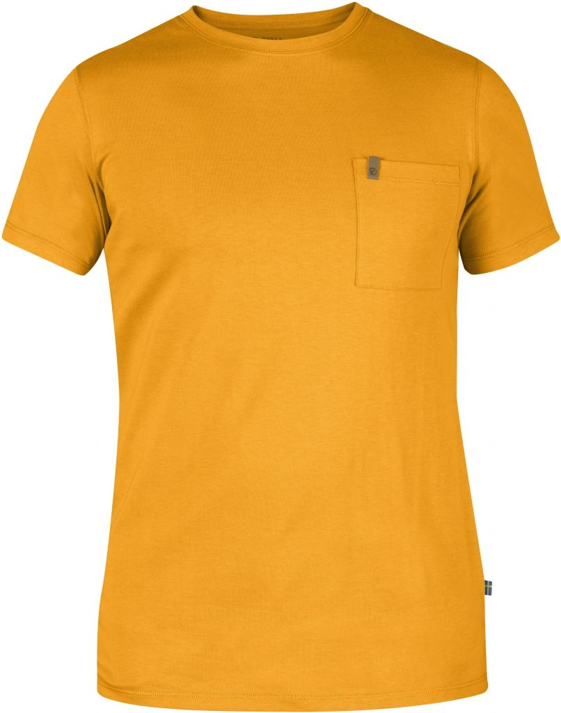 FjallRaven Övik Pocket T-shirt Campfire Yellow-30