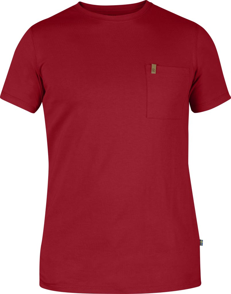 FjallRaven Övik Pocket T-shirt Deep Red-30