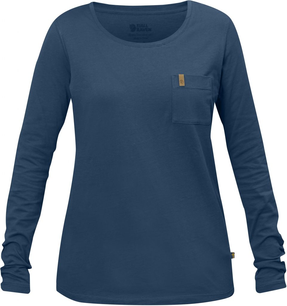 FjallRaven Övik Pocket T-shirt LS W Uncle Blue-30