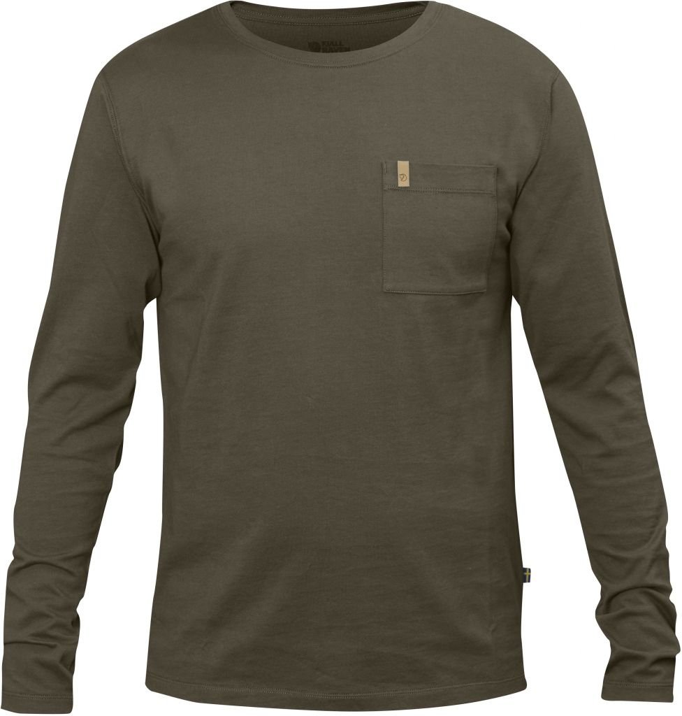 FjallRaven Övik Pocket T-shirt LS Tarmac-30