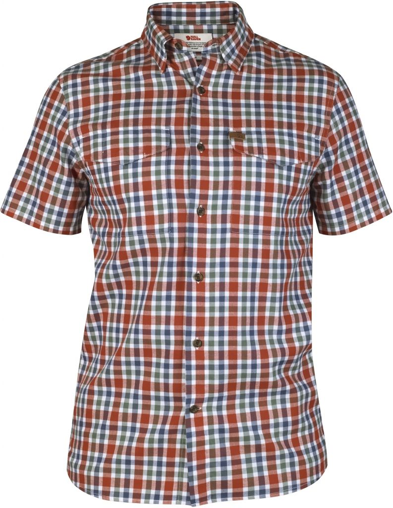 FjallRaven Övik Shirt SS Comfort Fit Deep Red-30