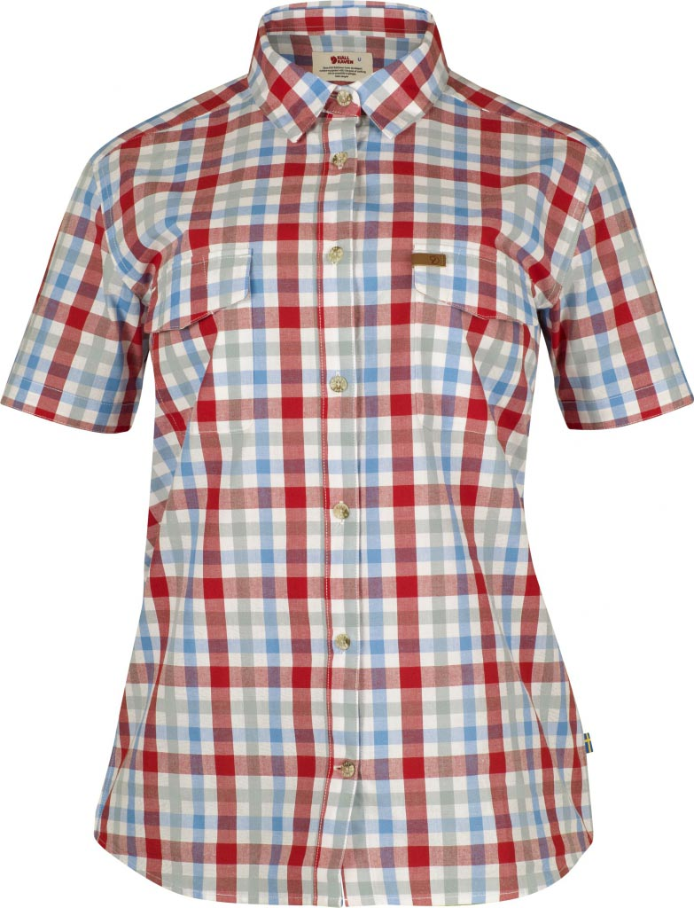FjallRaven Övik Shirt SS W. Neon Red-30