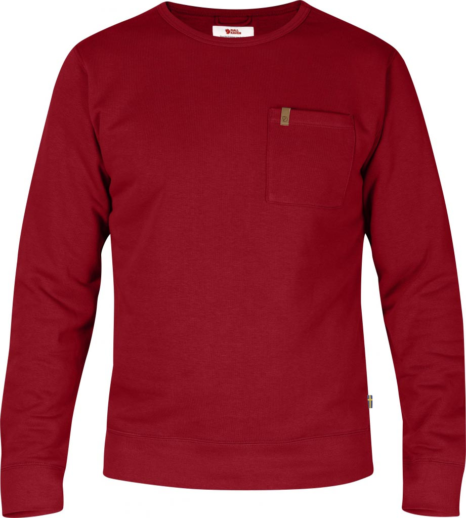 FjallRaven Övik Sweater Deep Red-30