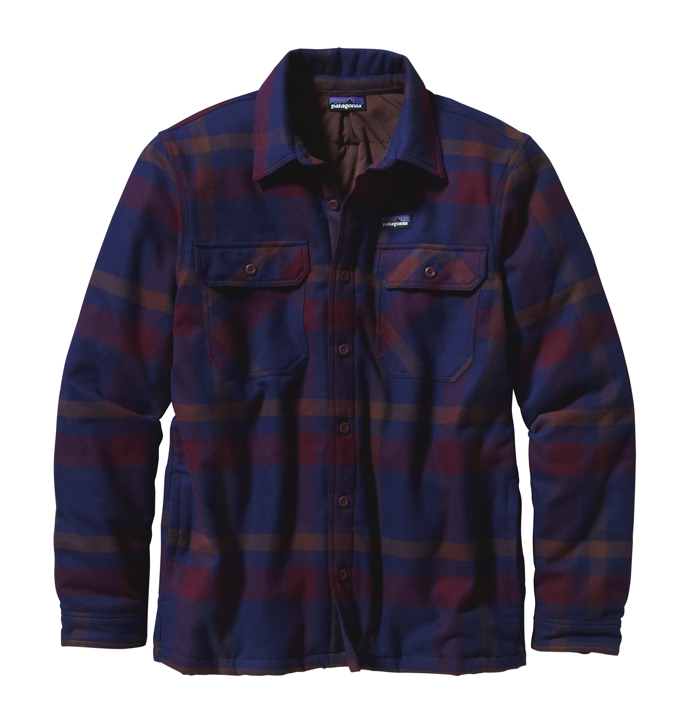 Patagonia - Insulated Fjord Flannel Jacket Comstock: Dark Currant - Isolation & Winter Jackets -