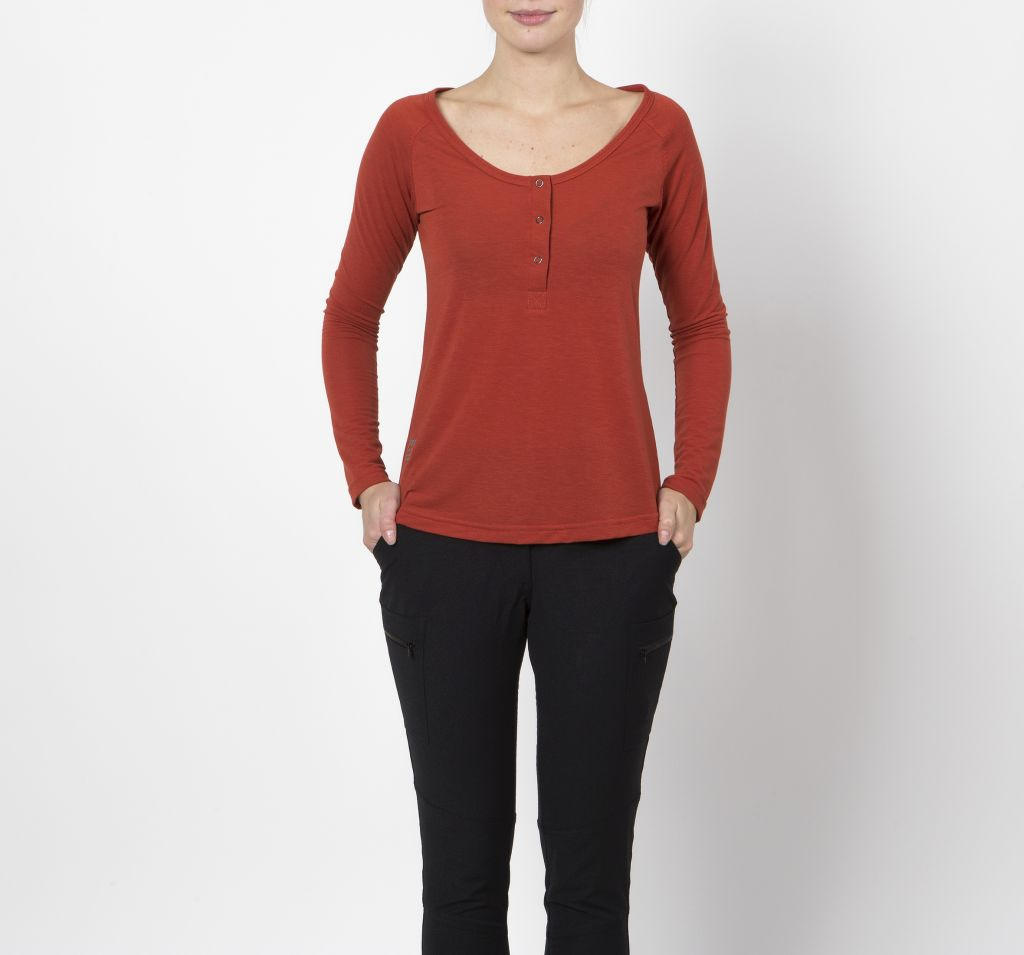Unnur Women´s Long Sleeve Rust-30