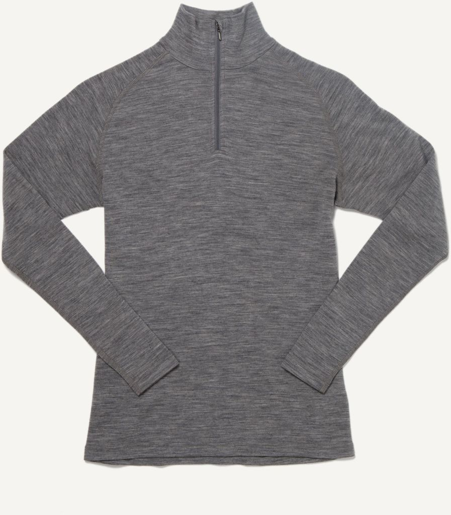 Basar Women´s Zip Neck Heather Grey-30